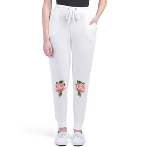 NWT Chaser Flower Floral Knee Joggers Sweatpants